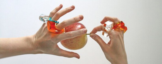 In the picture plexiglass rings made by Adam Kaczmarek