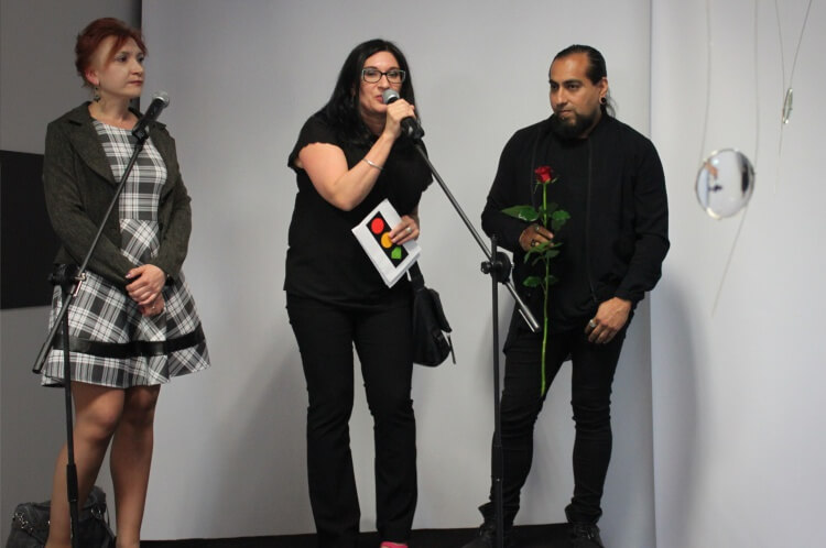 Opening of the exhibition by Jorge Manilla