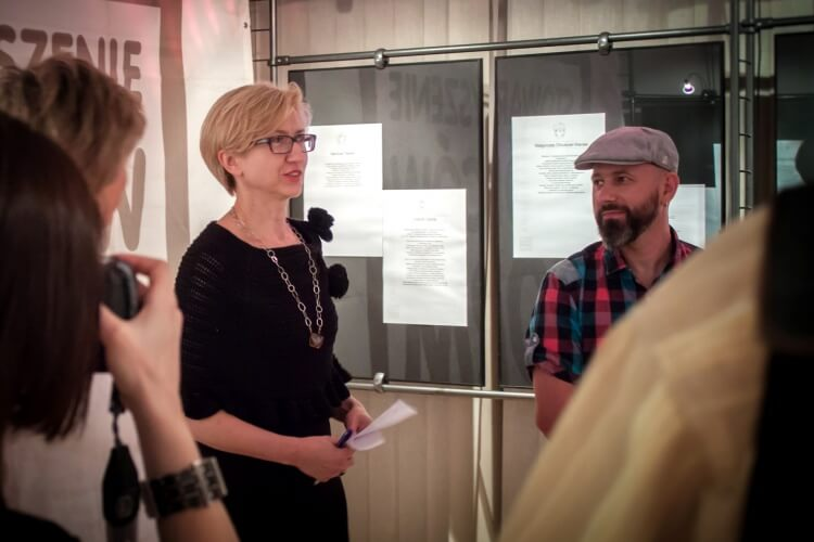 The open of exhibition: Anna Sado, Marcin Tymiński