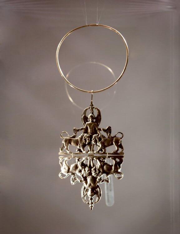 Helena Kowalewicz-Wegner – a collar with a pendant, brass 1973