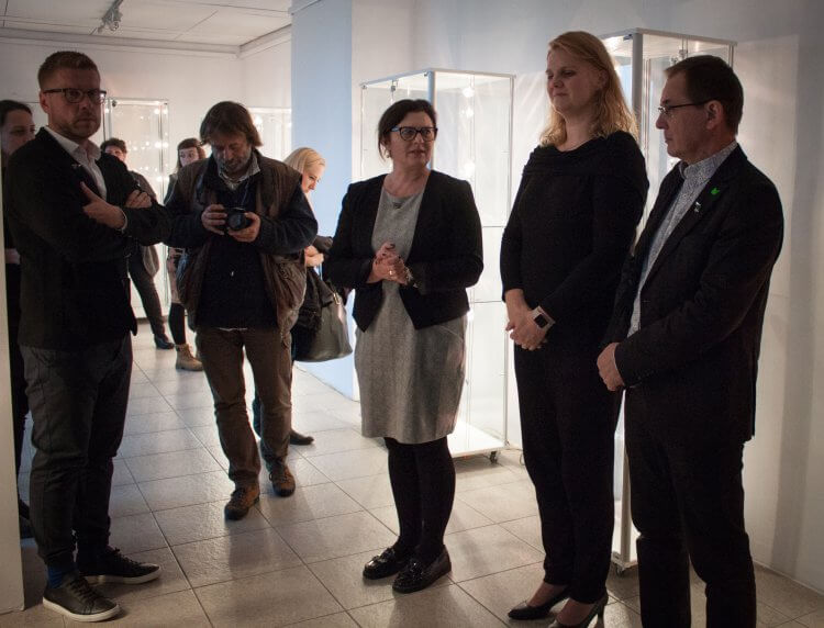 Opening the jewelry exhibition at the Odnowa Gallery